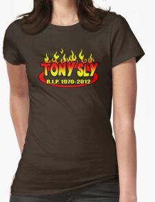 R.I.P. TONY SLY!! Womens Fitted T-Shirt