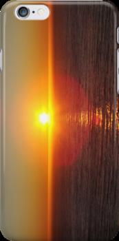 Sunset Over Ocean by Eva Kato