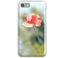 Backlit poppies iPhone Case/Skin
