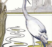 Heron by Val Spayne