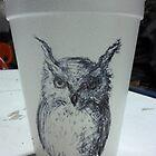 Owl paper cup by Alephredo Muñoz