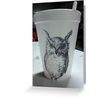 Owl paper cup Greeting Card