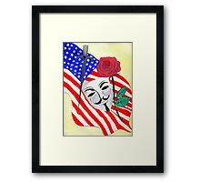 V  the Vendetta against America Framed Print