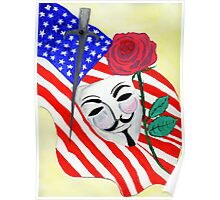 V  the Vendetta against America Poster