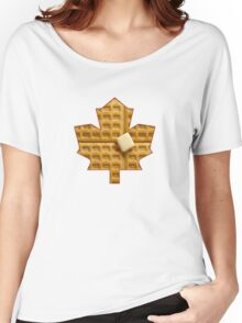 Toronto Maple Leafs - Waffles Women's Relaxed Fit T-Shirt