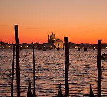 Sunset on Venice - San Giorgio by Alvise Busetto