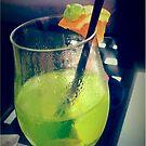 Green Teddy Cocktail by BevsDigitalArt