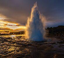 Geysir Sunset Iceland by Chris Thaxter