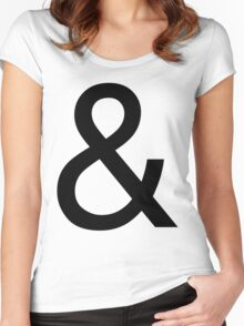 Ampersand (Helvetica) Women's Fitted Scoop T-Shirt