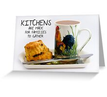 Kitchen saying note card Greeting Card