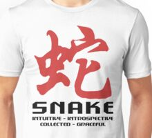 Year of The Snake Characteristics T-Shirt Unisex T-Shirt