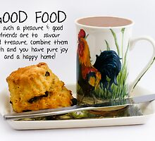 Afternoon Tea Note Card With Kitchen Saying by Moonlake