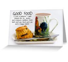 Afternoon Tea Note Card With Kitchen Saying Greeting Card