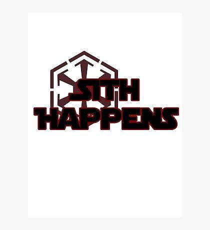 Sith Happens Photographic Print