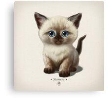 Cataclysm- Siamese Kitten Classic Canvas Print
