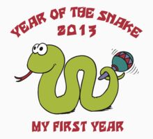 Born Year of The Snake 2013 T-Shirt Kids Clothes