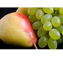 Pear and Grapes Photographic Print