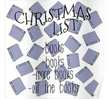 All I want for Christmas are books Poster
