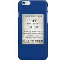 tardis wright iPhone Case/Skin