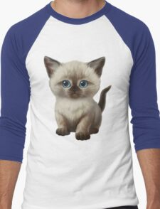 Cataclysm: Siamese Kitten Paws Men's Baseball ¾ T-Shirt