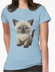 Cataclysm: Siamese Kitten Paws Womens Fitted T-Shirt