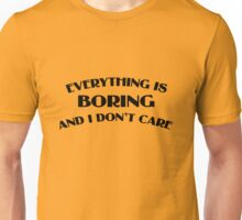 Everything Is Boring Crop Top Unisex T-Shirt