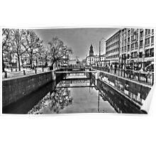 Canal reflection Poster