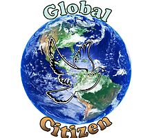 Global Citizen Peace Dove by SunfluerDesigns