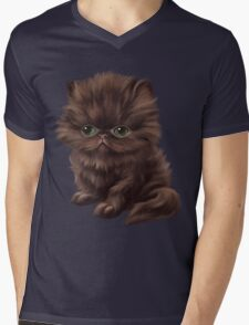 Cataclysm - Persian Kitten - Classic Pattern Mens V-Neck T-Shirt