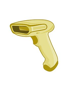 barcode scanner reader retro by retrovectors