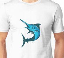 blue marlin fish jumping retro Unisex T-Shirt