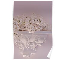 Lilac Purity On Ornate Shelf Poster