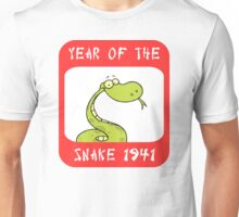 Year of The Snake 1941 T-Shirt Unisex T-Shirt