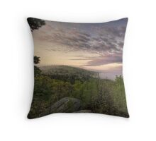 Sunrise over Blackstone River Throw Pillow