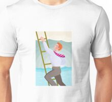 Businessman Officer Worker Climbing Ladder Unisex T-Shirt