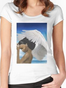 Epica the Angel Women's Fitted Scoop T-Shirt