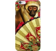 Chinese New Year, Year Of The Monkey, Monkey Fan And Envelopes iPhone Case/Skin