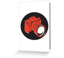DSLR digital camera front retro Greeting Card