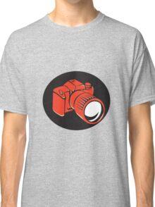 DSLR digital camera front retro Classic T-Shirt