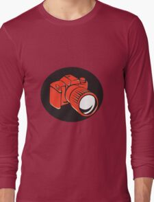 DSLR digital camera front retro Long Sleeve T-Shirt