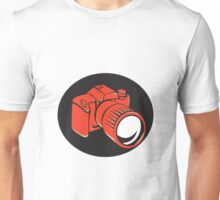 DSLR digital camera front retro Unisex T-Shirt