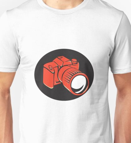 DSLR digital camera front retro Unisex T-Shirt