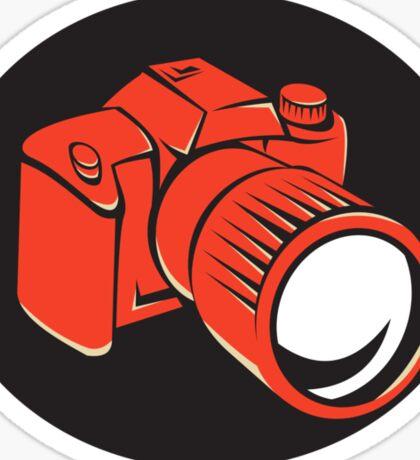 DSLR digital camera front retro Sticker
