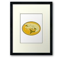 catfish fish retro Framed Print
