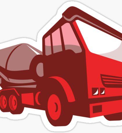 cement truck lorry retro style  Sticker