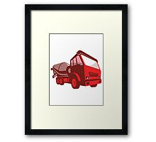 cement truck lorry retro style  Framed Print
