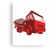 cement truck lorry retro style  Canvas Print