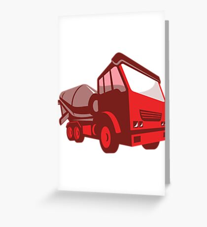 cement truck lorry retro style  Greeting Card