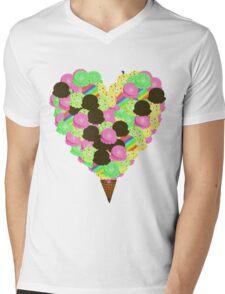 ice cream lover Mens V-Neck T-Shirt