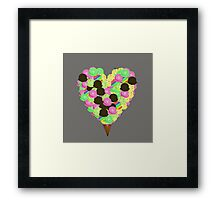 ice cream lover Framed Print